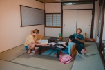 Our tatami room for the day.